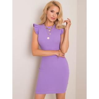 RUE PARIS Violet striped dress dámské Neurčeno M