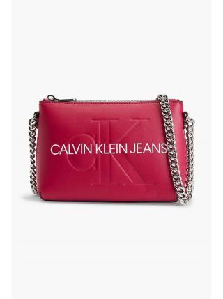 Růžová crossbody kabelka Calvin Klein Camera Pouch dámské tmavě růžová