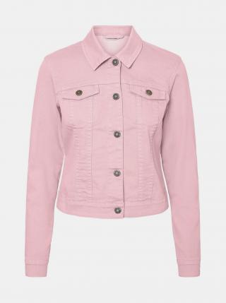 Růžová džínová bunda Noisy May Debra dámské XL