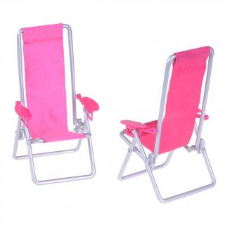 Růžová židle pro panenku