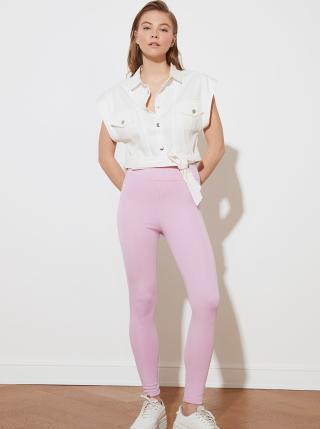 Růžové dámské legíny Trendyol dámské růžová XXL