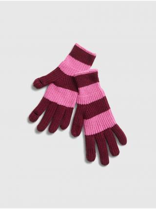 Růžové dámské rukavice GAP dámské růžová ONE SIZE
