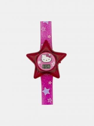 Růžové hodinky ve tvaru hvězdy Hello Kitty růžová