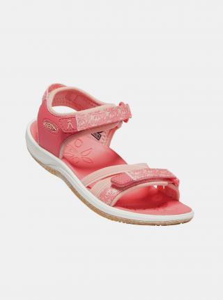 Růžové holčičí květované sandály Keen růžová 24