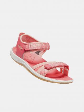 Růžové holčičí květované sandály Keen růžová 32-33