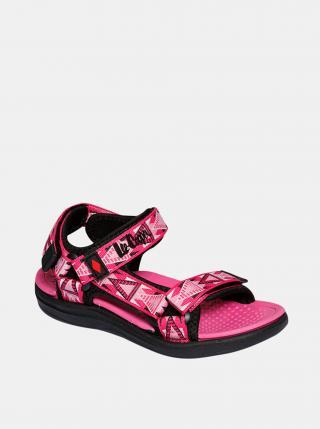 Růžové holčičí vzorované sandály Lee Cooper růžová 28