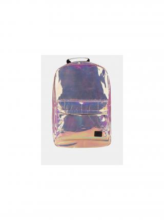 Růžový dámský holografický batoh Spiral Holographic 18 l dámské růžová