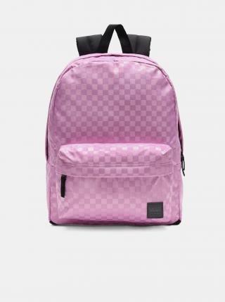 Růžový dámský kostkovaný batoh VANS dámské růžová