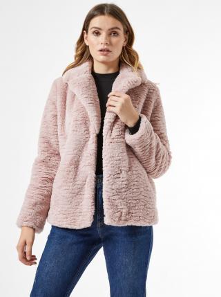 Růžový krátký kabát z umělého kožíšku Dorothy Perkins dámské růžová M