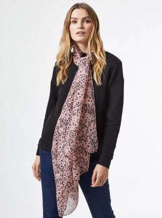 Růžový vzorovaný šátek Dorothy Perkins dámské růžová