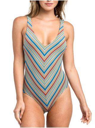 RVCA SIXTEENTH ST 1 PIECE MULTI jednodílné plavky - barevné dámské fialová S