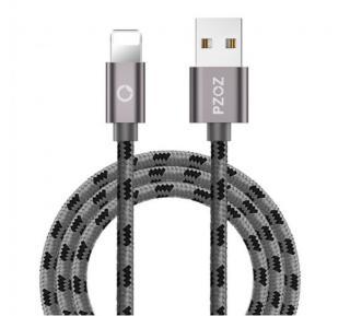 Rychlonabíjecí USB kabel pro iPhone - 4 barvy Barva: šedá, Typ: 50 cm
