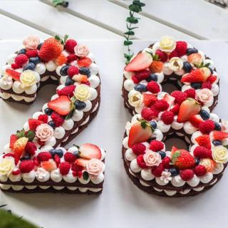Šablona na dort číslice Varianta: 1
