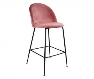 Sada 2 barových židlí Lausanne Rose Black Černá