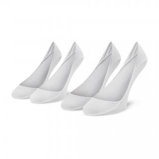 Sada 2 párů dámských ponožek CALVIN KLEIN - 100001890 White 002 Bílá 35/38