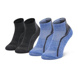 Sada 2 párů pánských vysokých ponožek MIZUNO - Act Train Mid 2P Dazzling Blue/Black Modrá M