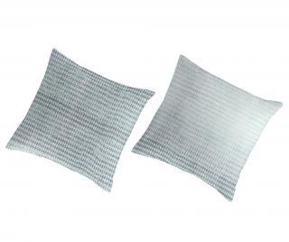 Sada 2 povlaků na polštáře Percale Muriel Navy 80x80 cm Modrá 80x80 cm