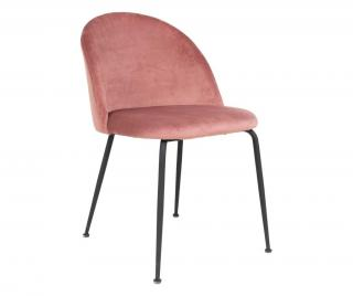 Sada 2 židlí Geneve Rose Black Ružová