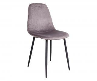 Sada 2 židlí Stockholm Grey Black Šedá & Stříbrná