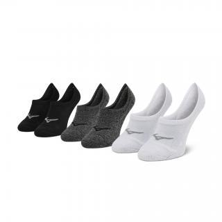 Sada 3 párů pánských ponožek MIZUNO - Super Short Socks 3P J2GX005577  White/Black/Grey Barevná S