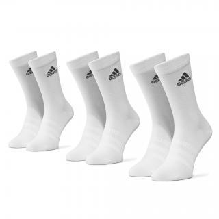 Sada 3 párů vysokých ponožek unisex adidas - Light Crew 3Pp DZ9393  White/White/White Bílá 40/42