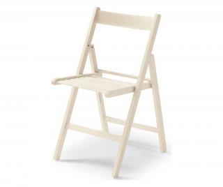 Sada 4 skládacích židlí Bílá