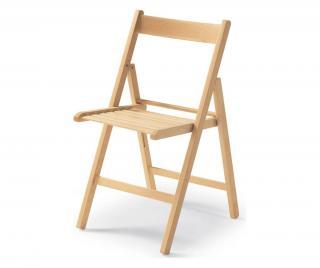 Sada 4 skládacích židlí Krémová