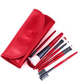 Sada 7 štětců na make-up Barva: červená