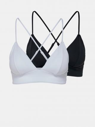 Sada dvou horních dílů plavek v bílé a černé barvě ONLY dámské černá L