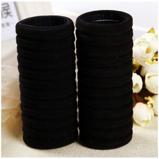 Sada gumiček do vlasů - 50 ks Barva: černá