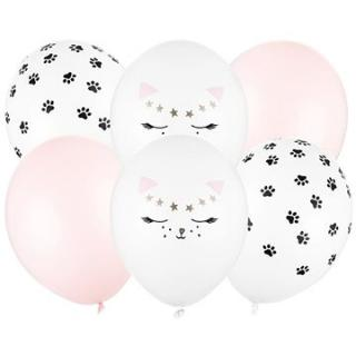 Sada latexových balónků - motiv kočičky - 30 cm - 6 ks