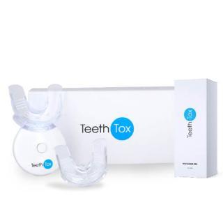 Sada na bělení zubů s bělícím gelem a LED světlem pro bezbolestné, ale účinné bělení zubů. Obsahuje 3x 10 ml bělícího gelu   LED světlo.