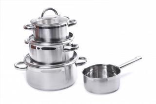 Sada nádobí sada hrnců prohome, nerezové, indukční, 7ks