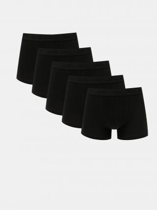 Sada pěti černých boxerek Jack & Jones Tone pánské černá M