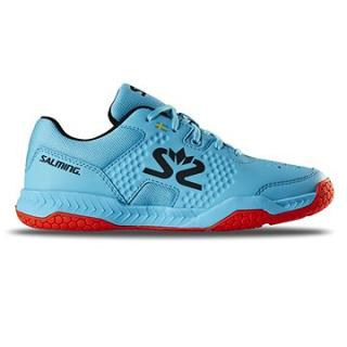 Salming Hawk Court Shoe JR modrá/červená