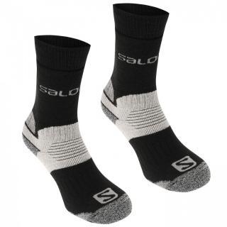 Salomon Heavyweight 2 Pack Walking Socks Mens pánské Black M 5.5-7