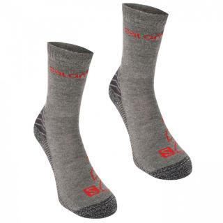 Salomon Lightweight 2 Pack Walking Socks Mens pánské Grey M 5.5-7