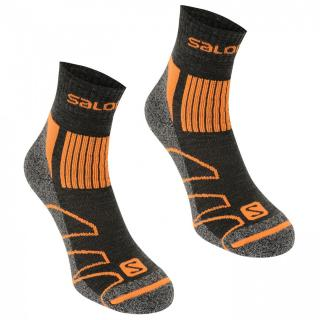 Salomon Merino Low 2 Pack Walking Socks Mens pánské Black M 5.5-7
