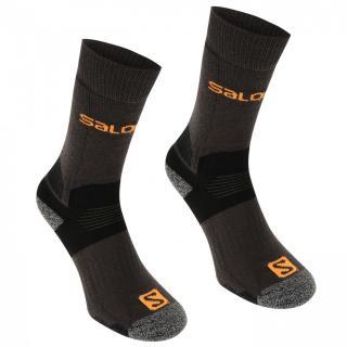 Salomon Midweight 2 Pack Mens Walking Socks pánské Black | Black M 5.5-7