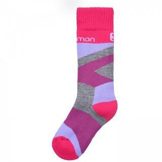 Salomon Team 2 Pack Ski Socks Junior Girls dámské Other | Violet 27/30