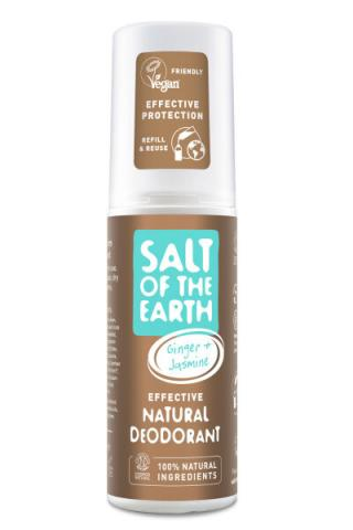 Salt Of The Earth Přírodní deodorant ve spreji se zázvorem a jasmínem Ginger   Jasmine  100 ml