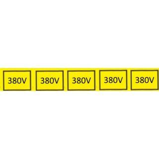 Samolepka 380V (5x) 2,5X1,5