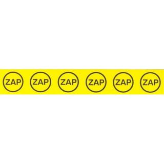 Samolepka značení ZAP v kroužku  25x145mm