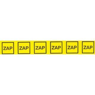 Samolepka značení ZAP v obdélníku  25x145mm