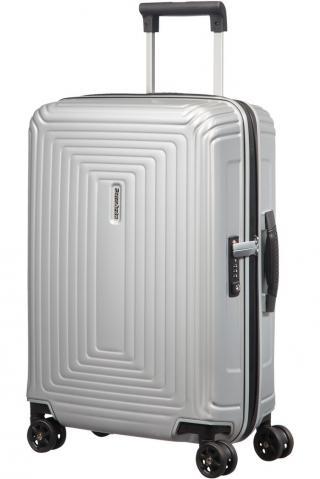 Samsonite Kabinový cestovní kufr Neopulse DLX 38 l - stříbrná matná