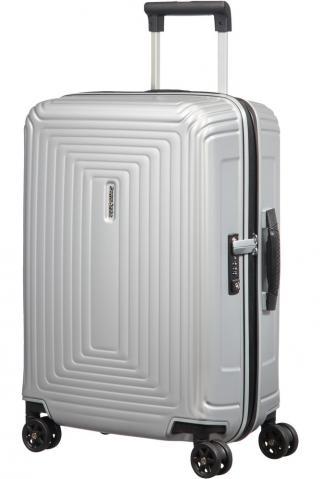 Samsonite Kabinový cestovní kufr Neopulse DLX 44 l - stříbrná matná