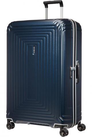 Samsonite Skořepinový cestovní kufr Neopulse DLX 124 l - temně tmavě modrá matná modrá