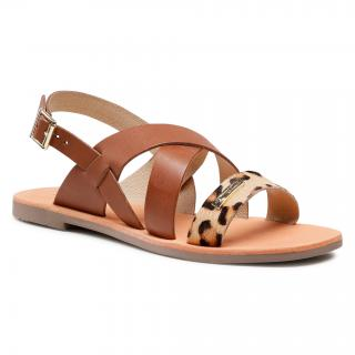 Sandály LES TROPEZIENNES - Daripa C27631 Brown dámské Hnědá 36