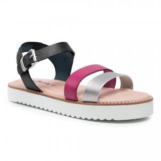 Sandály PEPE JEANS - Camille Cross PGS90081  Deep Fuchsia 377 dámské Barevná 35