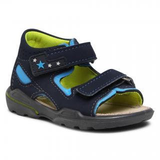 Sandály RICOSTA - Pepino by Ricosta Manto 73 3223900/183 Nautic/Sky/Neongelb pánské Tmavomodrá 21